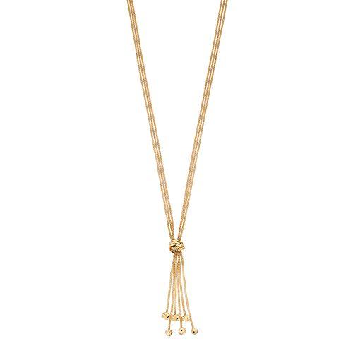 Women's Dana Buchman Knotted Tassel Y Necklace