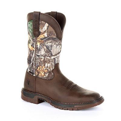 Rocky Original Ride FLX Men's Waterproof Steel Toe Western Work Boots