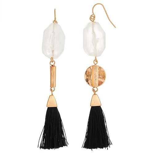 SONOMA Goods for Life™ Stone Tassel Drop Earrings