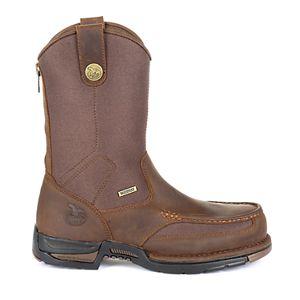 3190a8fc08b Georgia Boot Side-Zip Men's 10-in. Waterproof Wellington Work Boots
