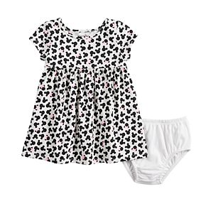 Disney's Minnie Mouse Baby Girl Printed Babydoll Dress by Jumping Beans®