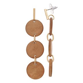 SONOMA Goods for Life? Wood Discs Drop Earrings