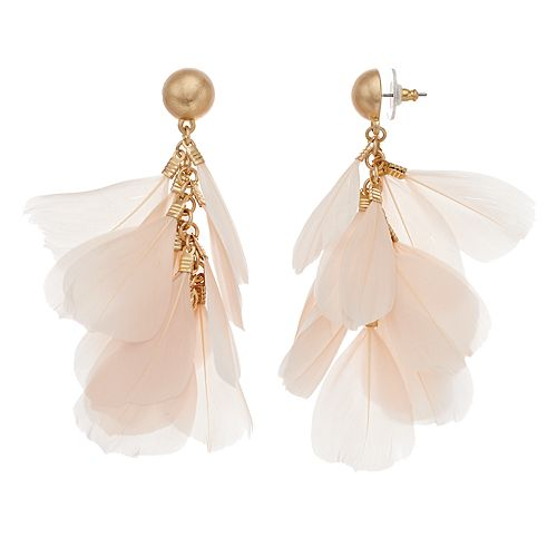 SONOMA Goods for Life™ Feather Dangle Earrings