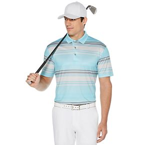 Men's Grand Slam On Course Striped Performance Golf Polo