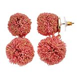SONOMA Goods for Life? Double Raffia Ball Drop Earrings