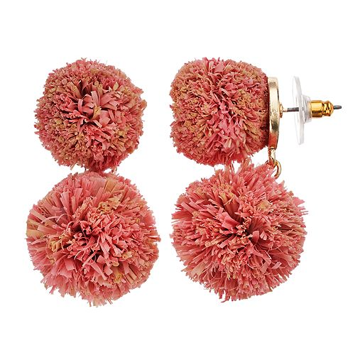 SONOMA Goods for Life™ Double Raffia Ball Drop Earrings