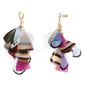 SONOMA Goods for Life? Multi Color Feather Drop Earrings
