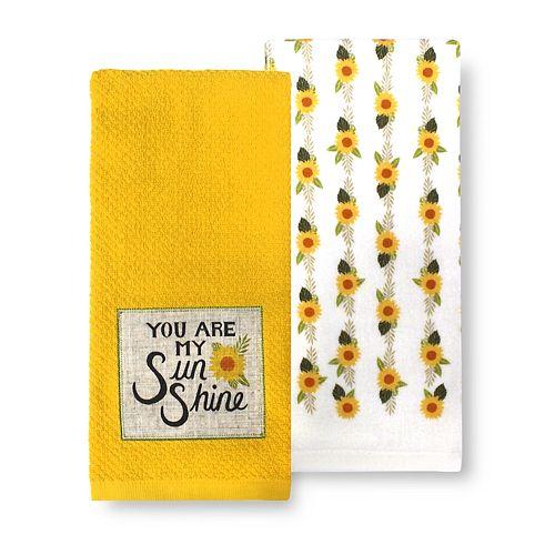Celebrate Fall Together Sunshine Patch Kitchen Towel 2-pk.