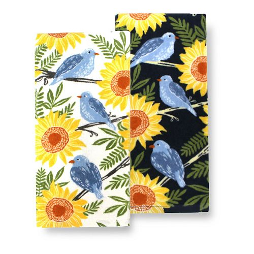 Celebrate Fall Together Bluebird Kitchen Towel 2-pk.
