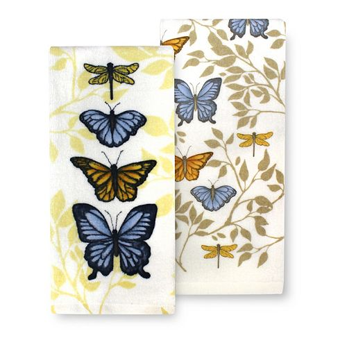 Celebrate Fall Together Butterfly Kitchen Towel 2-pk.