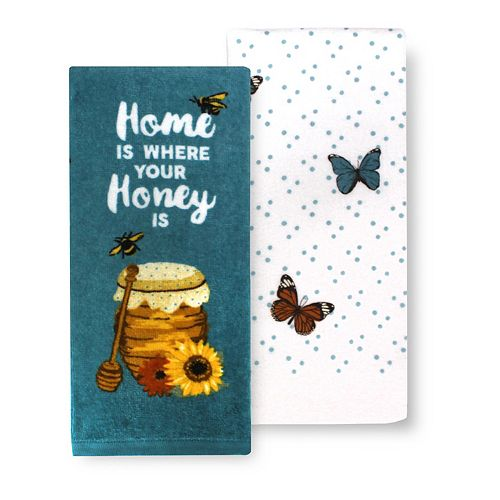 Celebrate Fall Together Honey Kitchen Towel 2-pk.