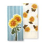 Celebrate Fall Together Sunflower Kitchen Towel 2-pk.