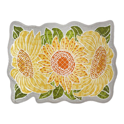 Celebrate Fall Together Quilted Sunflower Placemat