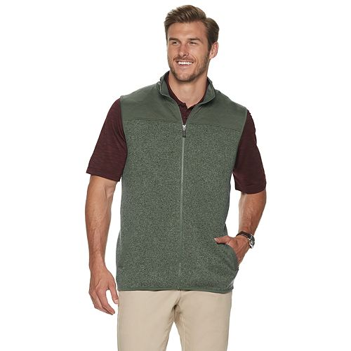 Big & Tall Haggar® Quilted Sweater Fleece Vest