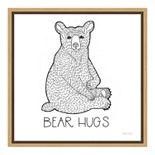 """Amanti Art Color the Forest I """"Bear Hugs"""" Canvas Framed Wall Art"""