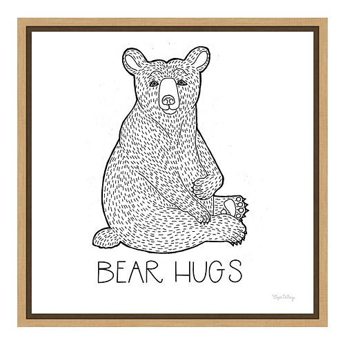 "Amanti Art Color the Forest I ""Bear Hugs"" Canvas Framed Wall Art"