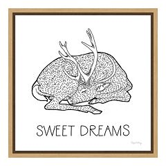 Amanti Art Color the Forest III 'Sweet Dreams' Canvas Framed Wall Art