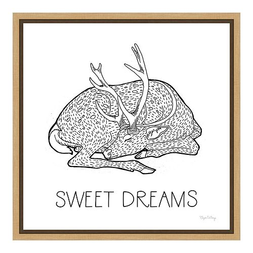 "Amanti Art Color the Forest III ""Sweet Dreams"" Canvas Framed Wall Art"