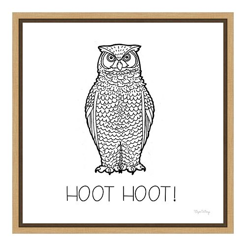 "Amanti Art Color the Forest V ""Hoot"" Canvas Framed Wall Art"