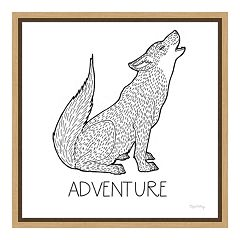 Amanti Art Color the Forest VI 'Adventure' Canvas Framed Wall Art