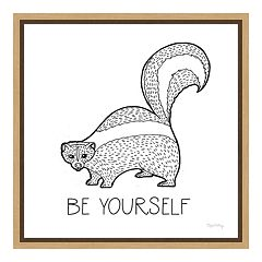 Amanti Art Color the Forest X 'Be Yourself' Canvas Framed Wall Art