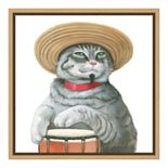 Amanti Art Cattitude II Canvas Framed Wall Art