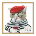 Amanti Art Cattitude III Canvas Framed Wall Art