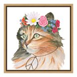 Amanti Art Cattitude I Canvas Framed Wall Art