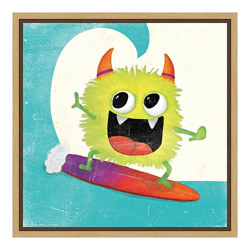 Amanti Art Xtreme Monsters III Canvas Framed Wall Art