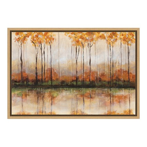 Amanti Art Treeline Canvas Framed Wall Art