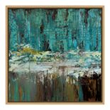 Amanti Art Deep Waters I Canvas Framed Wall Art