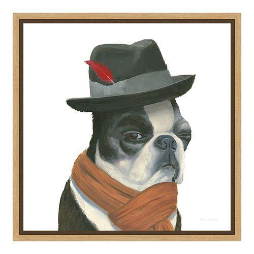 Amanti Art The Boys VIII Dog Canvas Framed Wall Art