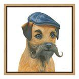 Amanti Art The Boys VII Dog Canvas Framed Wall Art