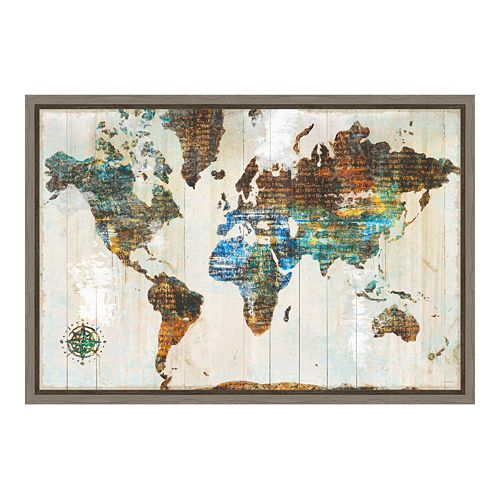 Amanti Art World of Wonders Canvas Framed Wall Art