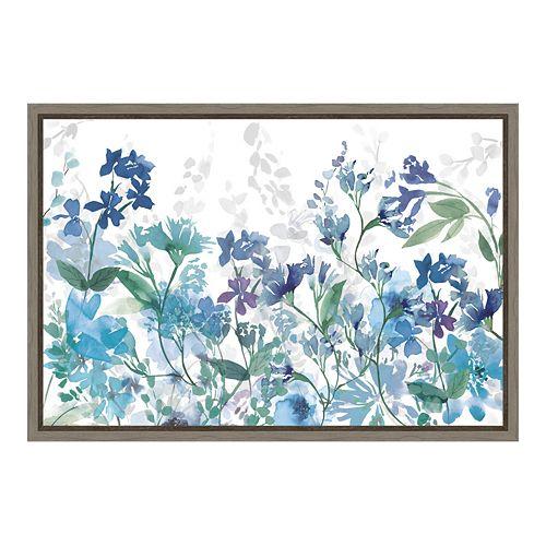 Amanti Art Colors of the Garden Canvas Framed Wall Art