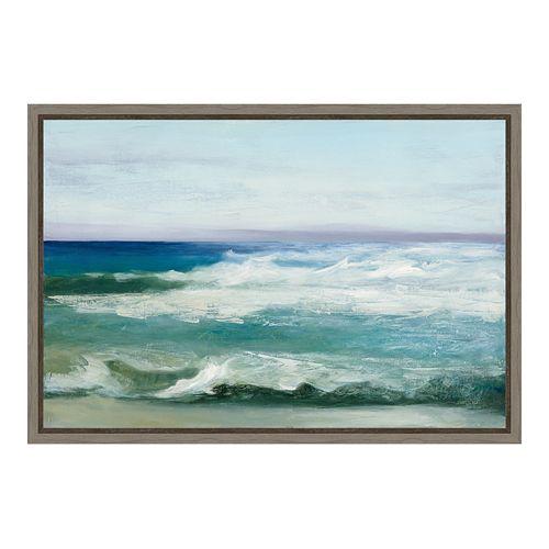 Amanti Art Azure Ocean Canvas Framed Wall Art
