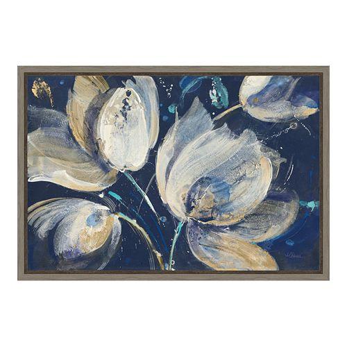 Amanti Art Midnight Garden Canvas Framed Wall Art