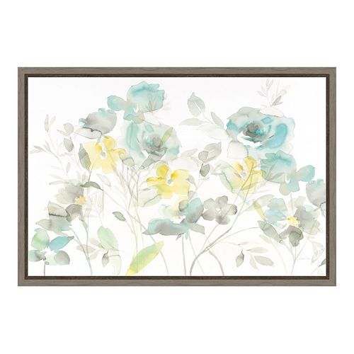 Amanti Art Roses Shadows Canvas Framed Wall Art