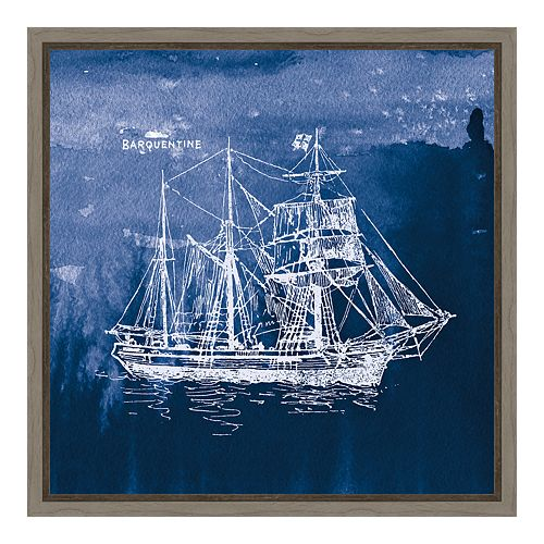 Amanti Art Sailing Ships III Canvas Framed Wall Art