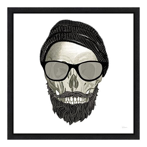 Amanti Art Hipster Skull II Canvas Framed Wall Art