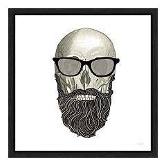 Amanti Art Hipster Skull I Canvas Framed Wall Art