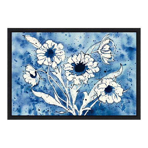 Amanti Art Flowers Crop Canvas Framed Wall Art