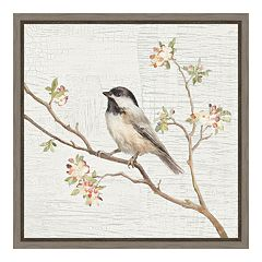 Amanti Art Chickadee Canvas Framed Wall Art