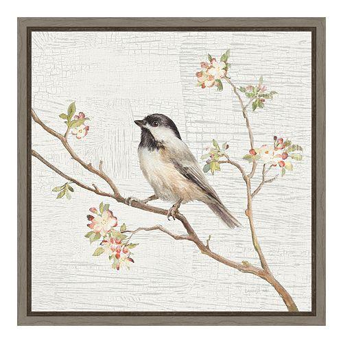 Amanti Art Chickadee Canvas Framed Wall Art