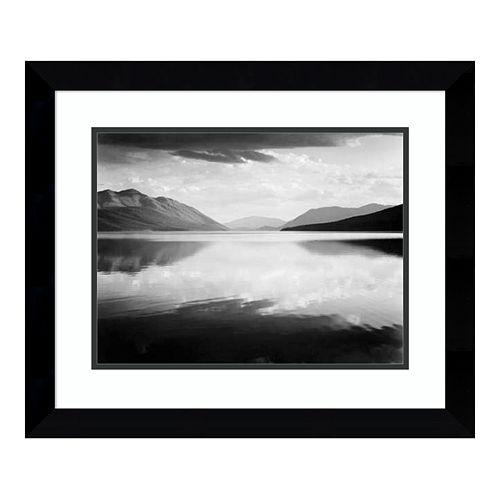 Amanti Art Evening McDonald Lake Framed Wall Art