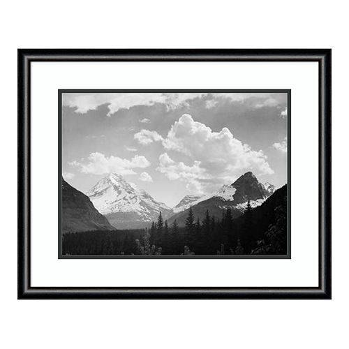 Amanti Art Mountains and Clouds Framed Wall Art