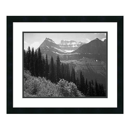 Amanti Art Trees Bushes Mountain Framed Wall Art