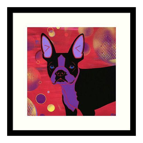 Amanti Art Bubbly Boston Terrier Framed Wall Art