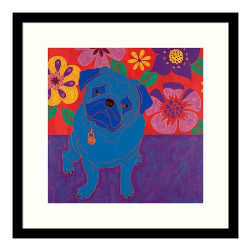 Amanti Art Perspicacious Pug Framed Wall Art
