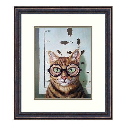 Amanti Art Feline Eye Exam Framed Wall Art